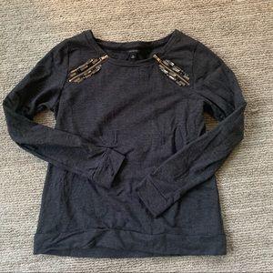 Ann Taylor embellished sweatshirt size M